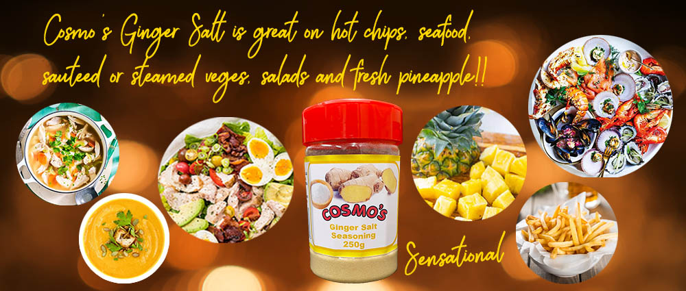 Cosmo's Ginger Salt Seasoning